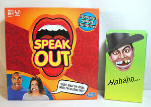 SPEAK OUT Game Must Say It, Plastic Mouth Guards Mouth Talking Challenge Game