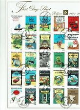 FIRST DAY SHEET 2007 New obp 3636-60 kuifje tintin van Hergé Georges Remi