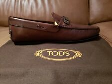 Tod's Men's Bit Detail Drivers US 9M / UK 8 brown Loafers Shoes $645