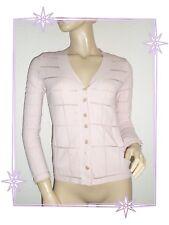 Gilet  Cardigan Fantaisie Ajouré Rose  Etincelle Couture Taille 2 - 38 / 40