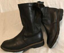 BiKkembergs Black Mid Calf Leather Beautiful Boots Size 4.5 (71QQ)
