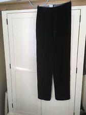 Giorgio Armani Black Velvet trousers Size 12 (42)