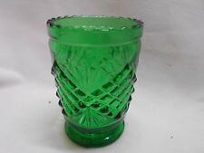 vintage green depression glass tooth pick holder pattern glass