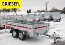 Neu 2000kg TANDEM Hochlader Anhänger 263x153x31cm TEMARED - GRIESER