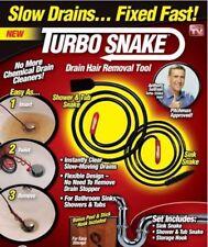 3 Packs Turbo Hair Removal Sink Snake Drain Cleaner Brush Drain Pipe Bath Shower