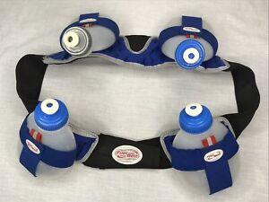 Fuel Belt Hydration Running Triathlon Size Large 4 x 8oz Bottles Runner Drink