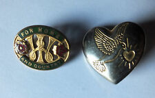 Womens Institute for Home and Country vintage enamel badge & Variety Club badge