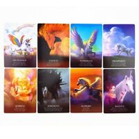 44x Unicorn Oracle Cards Mysterious Tarot Cards Divination Fate Board Gift Game