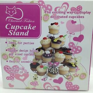 4 Tier Metal Scrolled 23 Mini Cupcake Stand Display Holder Wedding Birthday More