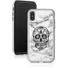 Marble Shockproof Hard Case Cover Protector For Apple iPhone Sugar Candy Skull