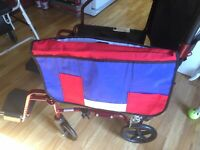 Wheelchair /Walker  Pouch Organizer Bag for Side of Chair, 3 Pocket Tote,
