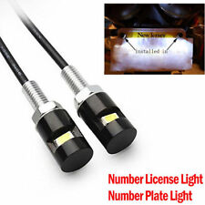 2X White LED License Number Plate Light Screw Bolt Bulbs SMD For Car Motorcycle