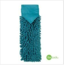 Norwex Chenille Hand Towel Teal Microfiber with Baclock Free Shipping