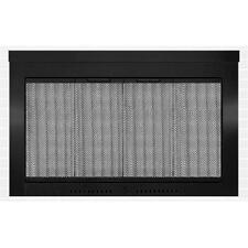 HearthCraft Glass Contemporary Fireplace Door Black w/ Mesh Screens 4029 New