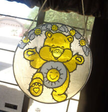 Funshine Care Bears Stained Glass Sun Catcher Glass Lead Excellent Rare