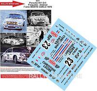 DECALS 1/43 REF 577 PORSCHE 911 FREQUELIN RALLYE MONTE CARLO 1976 RALLY WRC