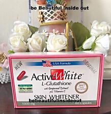 10 ACTIVE WHITE GLUTATHIONE WHITEN SKIN WHITENING PILLS SKIN Whitener Capsules