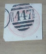 Great Britain Stamps cut out Victorian stamp cancel #447 Look & bid buy it now!!