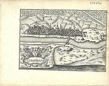 Antique map, Compiegne