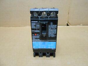 1 SIEMENS ED6 ED63B020 CIRCUIT BREAKER 20A 20 AMP 3P 3 POLE 600V BLACK (2 AVAIL)