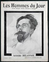 "French Artist Aristide Delannoy orig 1911 Obituary Issue ""Les Hommes du Jour"""