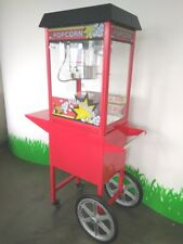 Carrello Per Popcorn Macchina Per I Pop Corn Lamiera Di Acciaio Rossa Con Freni