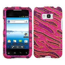 For LG Optimus Elite LS696 Crystal Diamond BLING Hard Case Phone Cover Rocker
