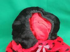 BIG CHILD SIZE HALLOWEEN COSTUME LADYBUG BLACK RED POLKADOT PLUSH STUFFED ANIMAL