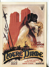 POST CARD OF A MOVIE POSTER THE HUNCHBACK OF NOTRE DAME 1939 CHARLES LAUGHTON