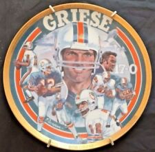 1993 Bob Griese Nfl Legends Collector Plate Sports Impressions #128 Of 7,500