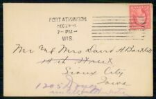 Mayfairstamps US Ft Atkinson to Sioux City IA Cover wwm_00615