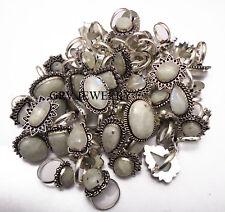 Rainbow Moonstone Gemstone Rings 925 Sterling Silver Overlay Wholesale lots