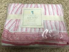 New Pottery Barn Kids Pink Karina Twin Bed skirt