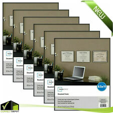 8.5x11 Document Format Picture Frame Photo Wall Decor Set Of 1/3/6 Display Black