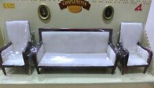 Conjunto sofa + sillones casita muñecas  dollhouse escala 1/12