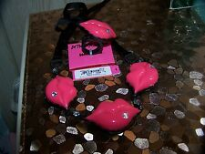 NWT $148 BETSEY JOHNSON FIRST DATE LIP'S NECKLACE & RING SET SIZE 7