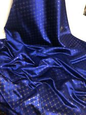 """1 MTR NAVY BLUE DIAMOND GLITTER CHINESE BROCADE FABRIC 45"""" WIDE NEW IN STOCK"""