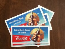 1956 Coca Cola Advertising Blotter, Bottle, Ephemera, Coke, Vintage