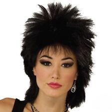 Mens Ladies 70s 80s 90s Glam Rock Punk Rocker Long Spiky Wavy Fancy Dress Wig