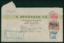 Mayfairstamps Colombia 1945 to New York Registered cover wwo1663