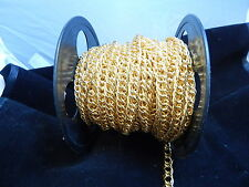 Chain Roll  10mm Gold Plated Rope Chain (sold by the foot) $2.00 Foot NEW(000)