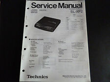 ORIGINALI service manual TECHNICS Portable CD Player sl-xp2