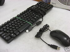 Dell 0rh659 rh659 l100 black usb keyboard w/ Dell 0xn976 mouse