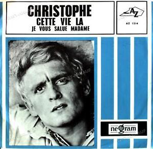 Christophe - Cette Vie Là / Je Vous Salue Madame 7in 1966 (VG/VG) .