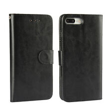 "For iPhone 8 4.7"" Black Leather Classic Business Flip Wallet Case Cover Stand"