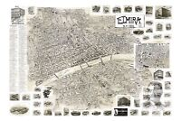 Old Map of Elmira, NY from 1901 - Vintage New York Art, Historic Decor