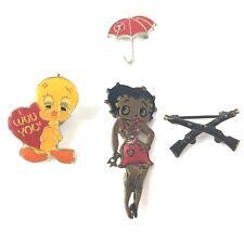 Lot of Vintage pins tie tack old Betty Boop Tweety Bird