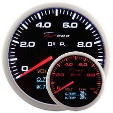 DEPO RACING Manometro 4 in 1 TEMPERATURA GAS DI SCARICO Voltmetro Pressione olio