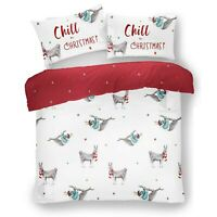 KIDS CHRISTMAS BEDDING SET Xmas Duvet Cover Festive Quilt + Pillowcase All Size