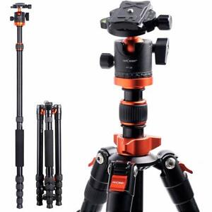 K&F Concept 67 inch Compact Lightweight Aluminum Travel Tripod For DSLR Camera